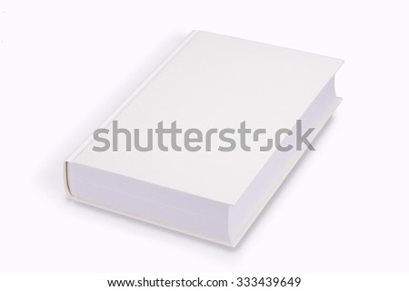 Book, blank book with yellow cover - stock photo