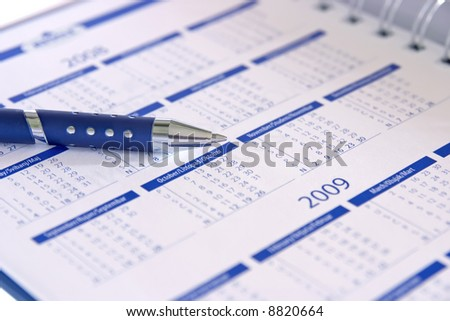 Book business contact planning 2008-2009 - stock photo