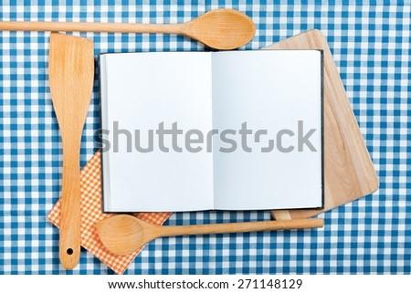 Book, cloth, cookbook. - stock photo