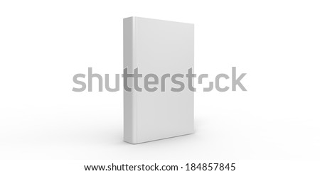 Book cover isolated on plain background