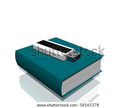 Book 3d illistration - stock photo
