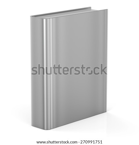 Book empty blank cover template brochure single document textbook cookbook workbook notebook knowledge media content information. 3d render isolated on white background - stock photo
