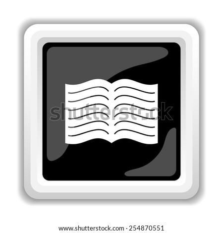 Book icon. Internet button on white background.  - stock photo