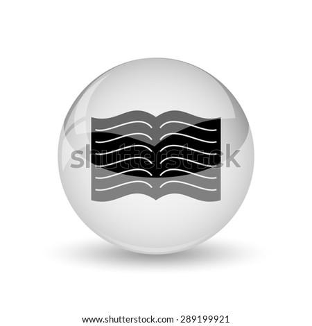 Book icon. Internet button on white background  - stock photo