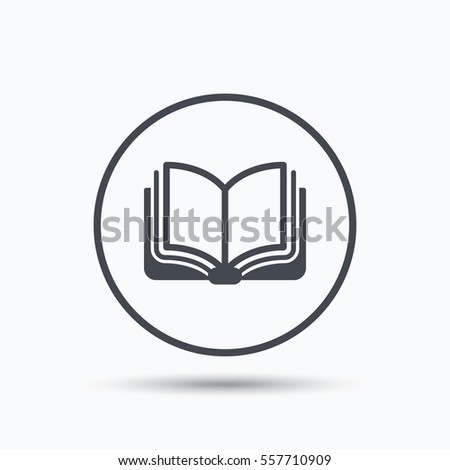 book icon study literature sign education stock vector  study literature sign education textbook symbol circle button flat web