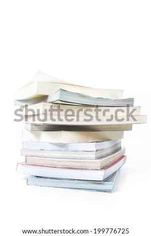 book in white isolated