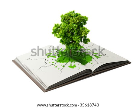 book is source of knowledge - stock photo
