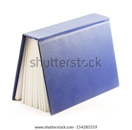 book isolated on a white background - stock photo