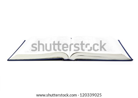 book isolated on the white - stock photo