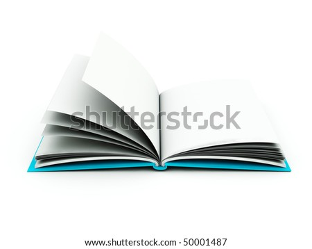 Book isolated on white. Blue and grey series