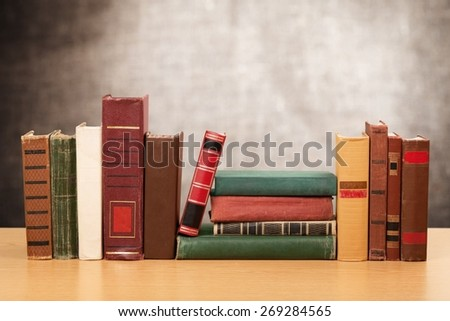 Book, Library, In A Row. - stock photo