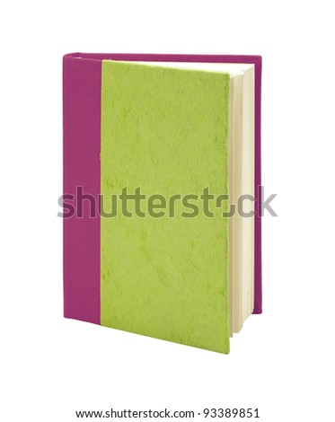 book made of recycled paper isolated on white background