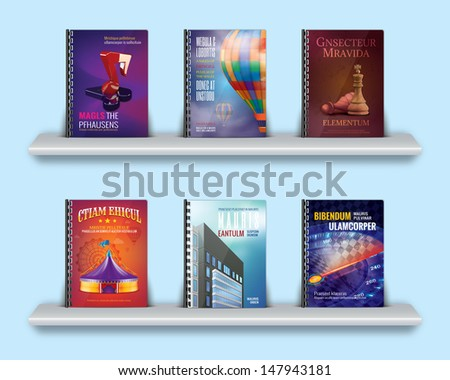 book notebooks reports covers with spiral - stock photo