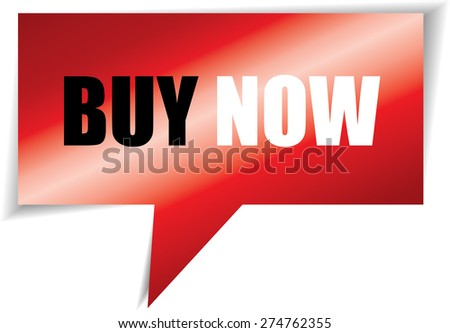 Book now speech red square template | business banner with symbol icon. - stock photo