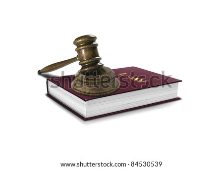 Book of Law and Gavel - stock photo