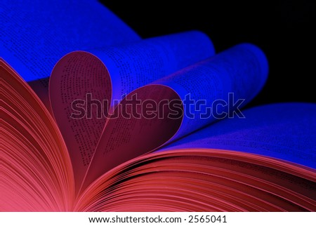 Book of love - Heart - stock photo