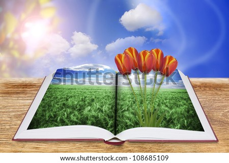 Book of nature - stock photo