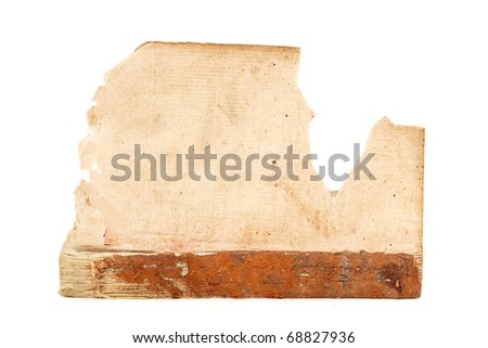 book old obsolete 1817 isolated on white background