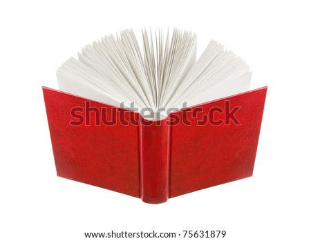 book on a white background - stock photo