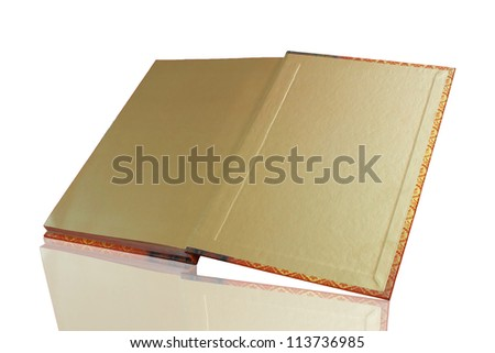 book on background white - stock photo