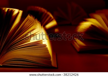 Book on the dark background