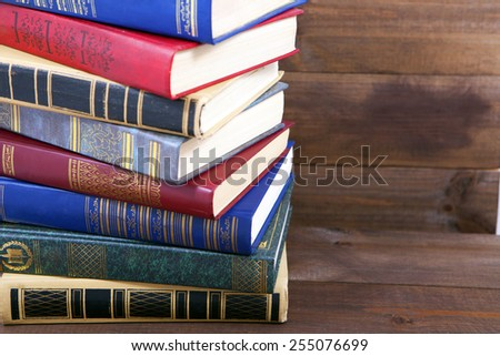 book on the wood - stock photo