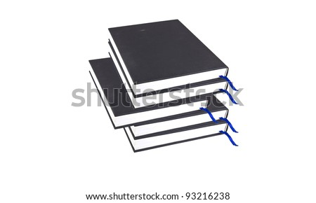 book on white - stock photo