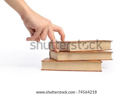 book on white background. - stock photo