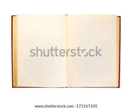 book open isolation, on a white background - stock photo