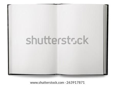 Book, open, top. - stock photo