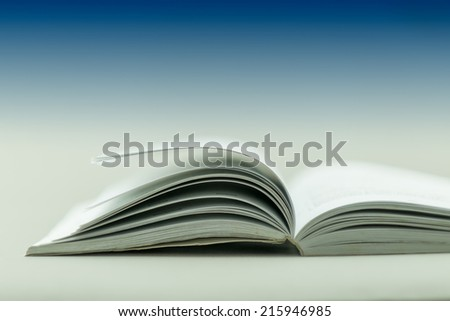book opening isolated on clear background - stock photo