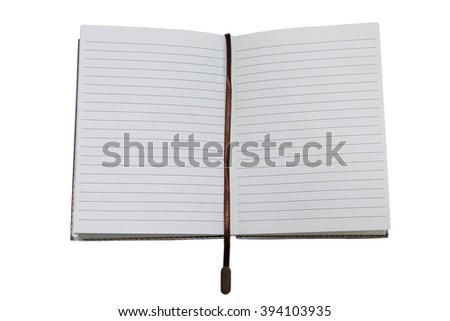 Book opening isolated on white background, top view - stock photo
