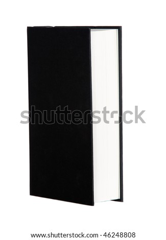 Book profile with black covers isolated on white background