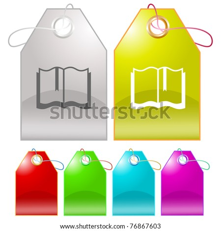Book. Raster tags. Vector version is in my portfolio. - stock photo