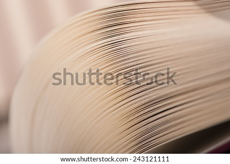Book's pages extreme close-up - stock photo