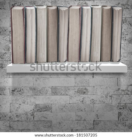 Book shelf - stock photo