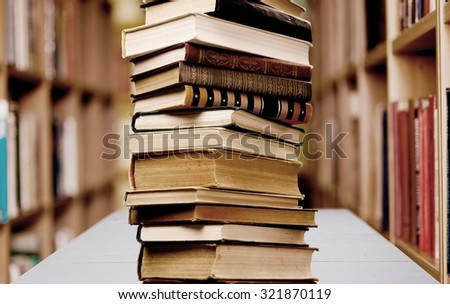 Book Stack. - stock photo