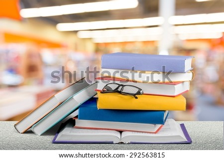 Book, stack, law. - stock photo
