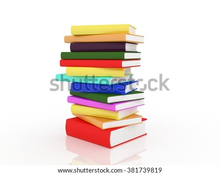 Book Stack of Colorful Books