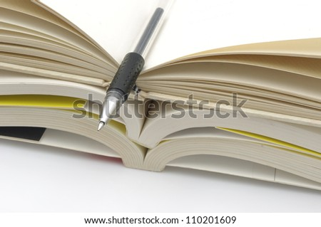 Book stack pen