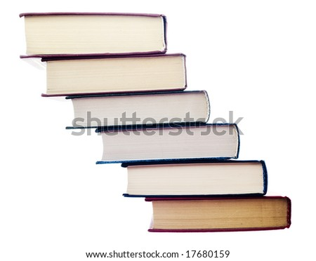 book stair - stock photo
