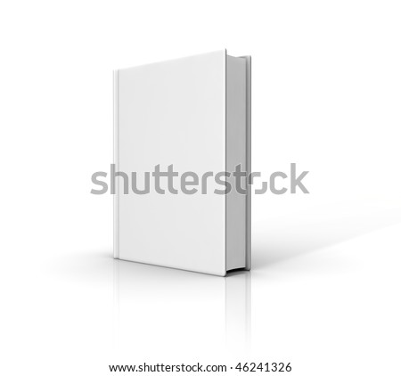 Book template on white background. Computer generated image. - stock photo