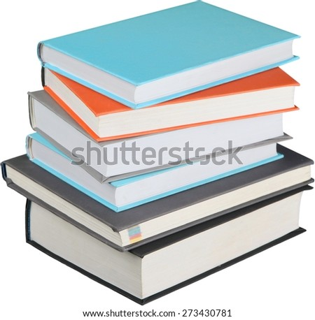Book, Textbook, Stack. - stock photo