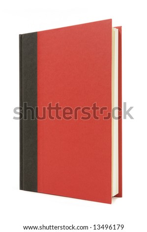 Book upright : red and black, vertical - stock photo