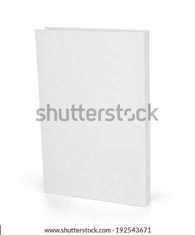 Book with a white cover on white background.