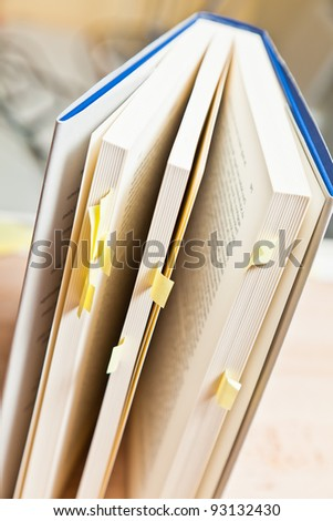 Book with annotations - stock photo