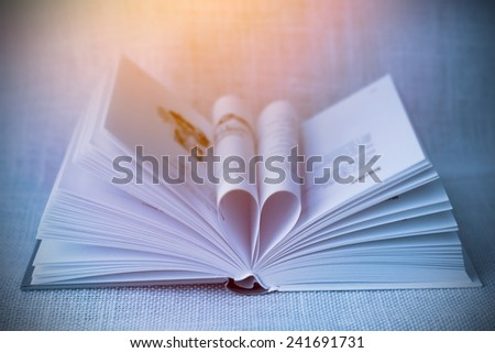 Book with canvas background