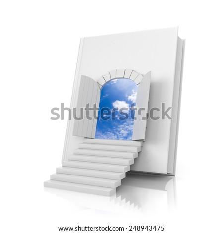 Book with door - stock photo