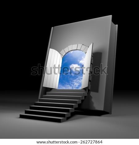 Book with door to future & Book Door Future Stock Illustration 262727864 - Shutterstock