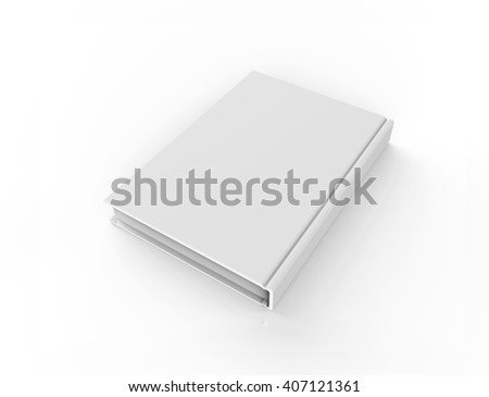 Book with Empty Cover, Isolated on a white background. 3D illustration - stock photo